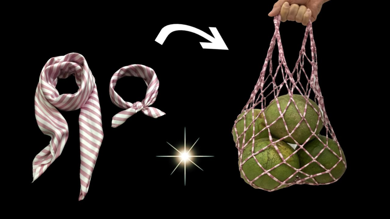 ♥️ DIY Bags for housewifes/ Recycle old scarves into fruit bags/ How to Make a shopping Bag