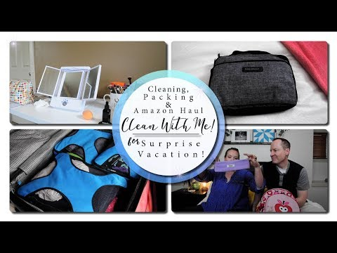 Clean With Me! - Cleaning, Packing & Amazon Haul...for Vacation?!