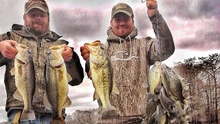 Crappie Fishing on a Nasty Day Plus BONUS Bass