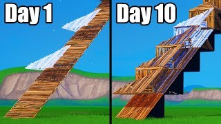 I learned How To Edit WITH 2 KEYBINDS - 10 Days of Progression - Fortnite Battle Royale