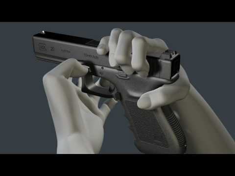 3D Glock Animation - How to disassemble and reassemble the G20
