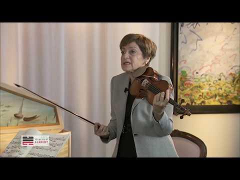 MIRIAM FRIED - Bach Violin Partita no. 1, Allemande (Masterclass)
