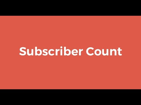 Subscriber Count Goal- 100 Subs!!!