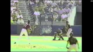 Baseball pitcher randy johnson throws a fast pitch and hits flying bird. amazing video! rdw8 sports