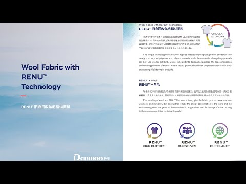 Wool Fabric with RENU™ Technology