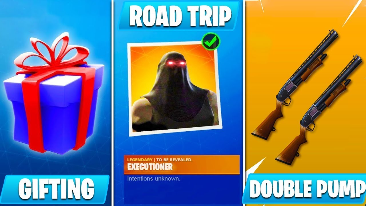 *HUGE* NEW FORTNITE UPDATE v5.3! (Road Trip Skin, Gifting, Double Pump, New Skins & MORE)