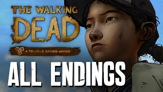 The Walking Dead Season 2 Episode 5 ALL ENDINGS - ALONE, JANE, KENNY, WELLINGTON