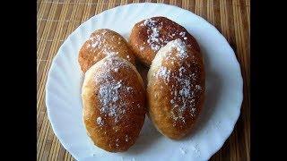 Жареные пирожки со сливами. Пирожки из дрожжевого теста.