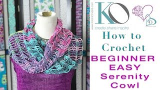How to Crochet Easy Serenity Cowl Beginner Project Stripes Change Color