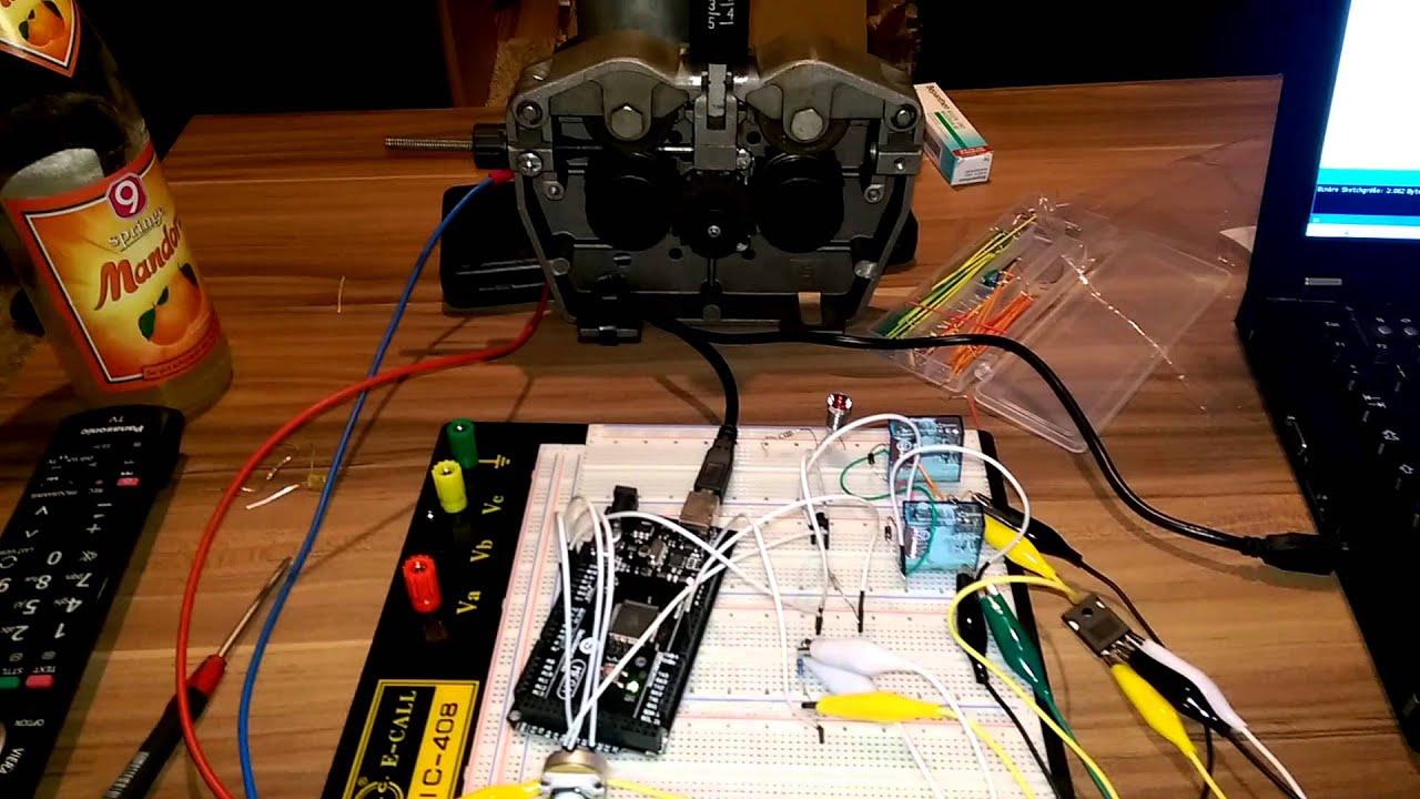 Drahtvorschub mittels Arduino Mig Mag Schweißgerät Mosfet - YouTube