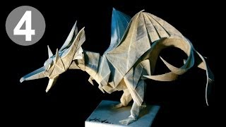 Part4/4 : Origami Fiery Dragon Ver.2 Instruction 摺紙噴火飛龍第二版教學 (kade Chan)