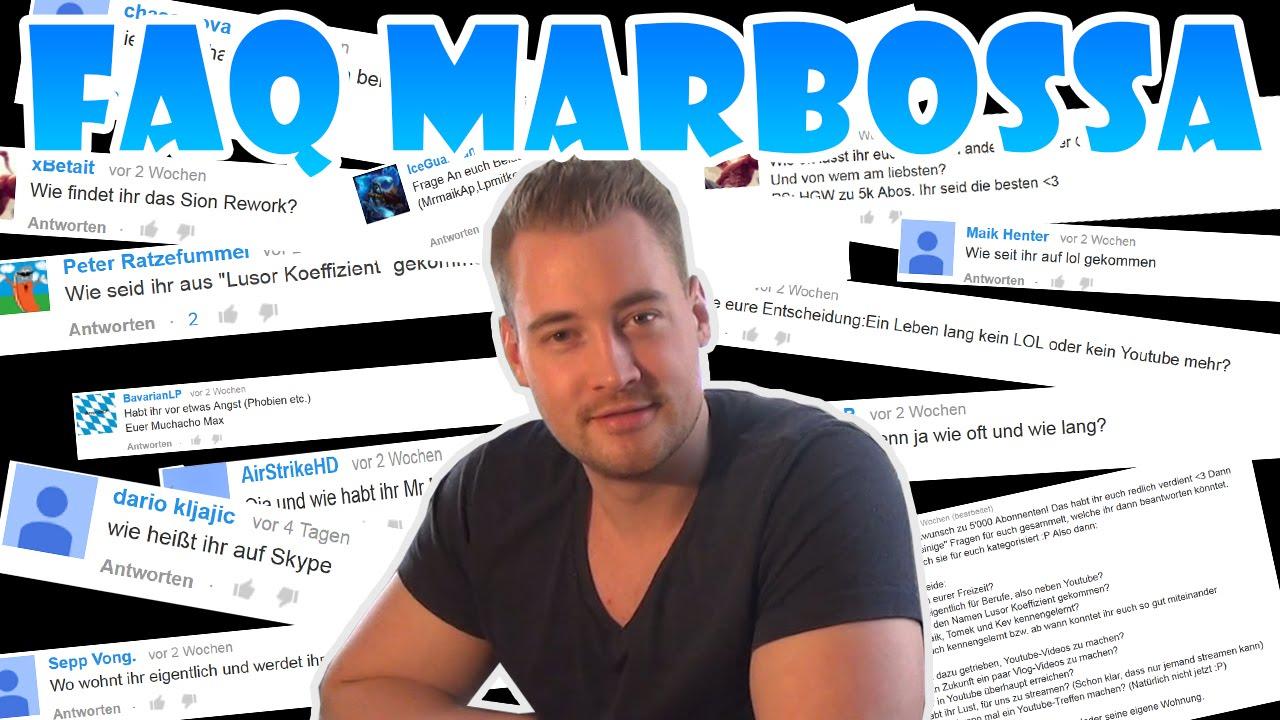Lusor marbossa und deko  FAQ VIDEO - MARBOSSA BEANTWORTET EURE FRAGEN - YouTube