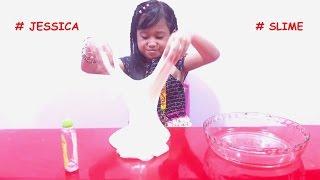 Membuat JIGGLY SLIME 💖 Membuat SLIME TANPA BORAX 💖 Mainan Anak Lets Play 💖 Jessica 💖