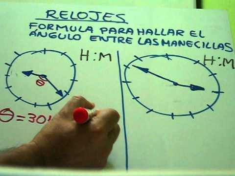 Relojes Angulo Entre Manecillas Youtube