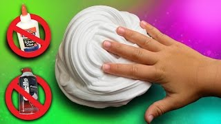Fluffy Slime without Glue or Shaving Cream! DIY Fluffy Slime How To NO BORAX
