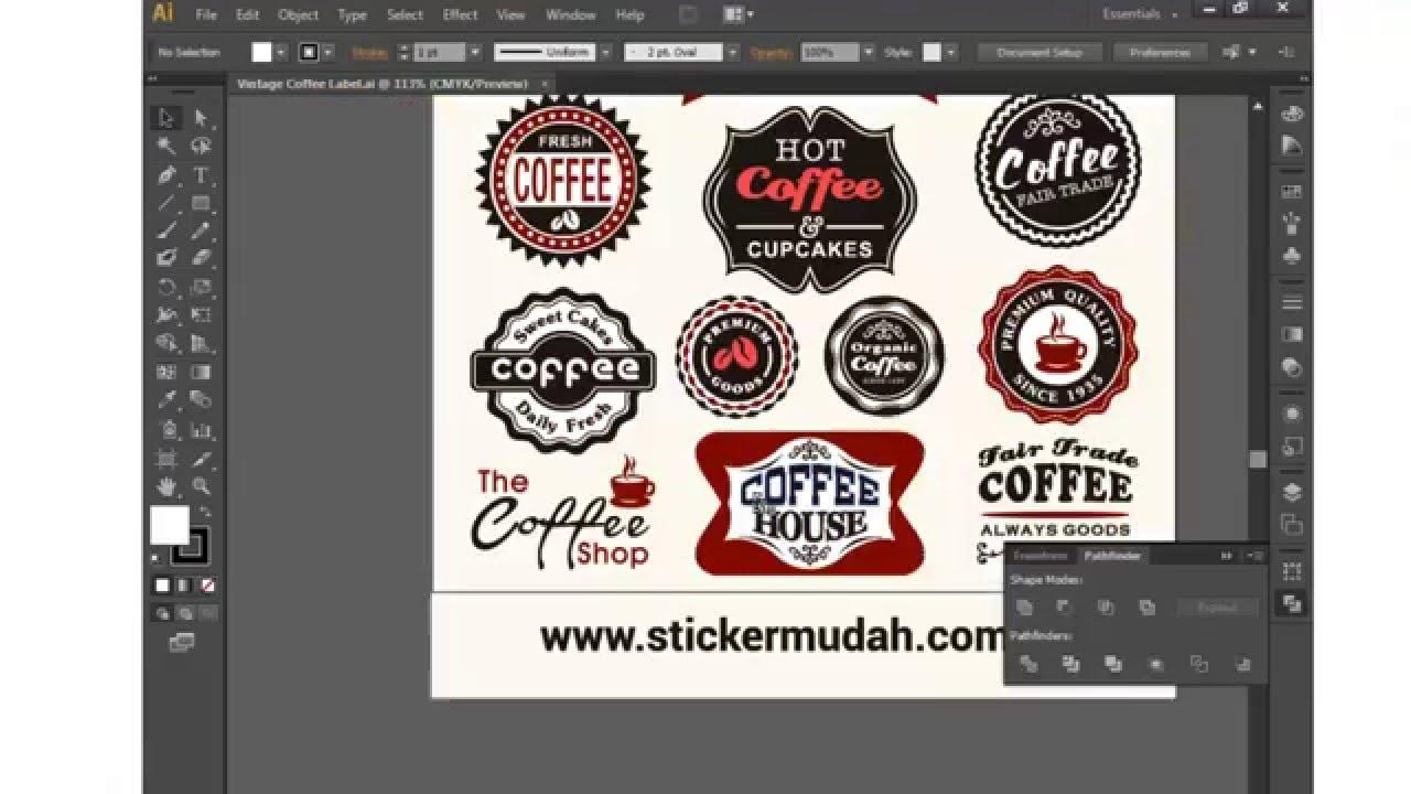 Cara mudah edit design untuk sticker