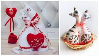 Текстильные коты, Коты НЕРАЗЛУЧНИКИ! Милые интерьерные вещички!