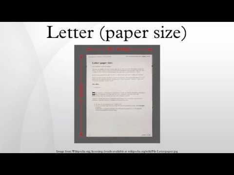 Letter (paper size)
