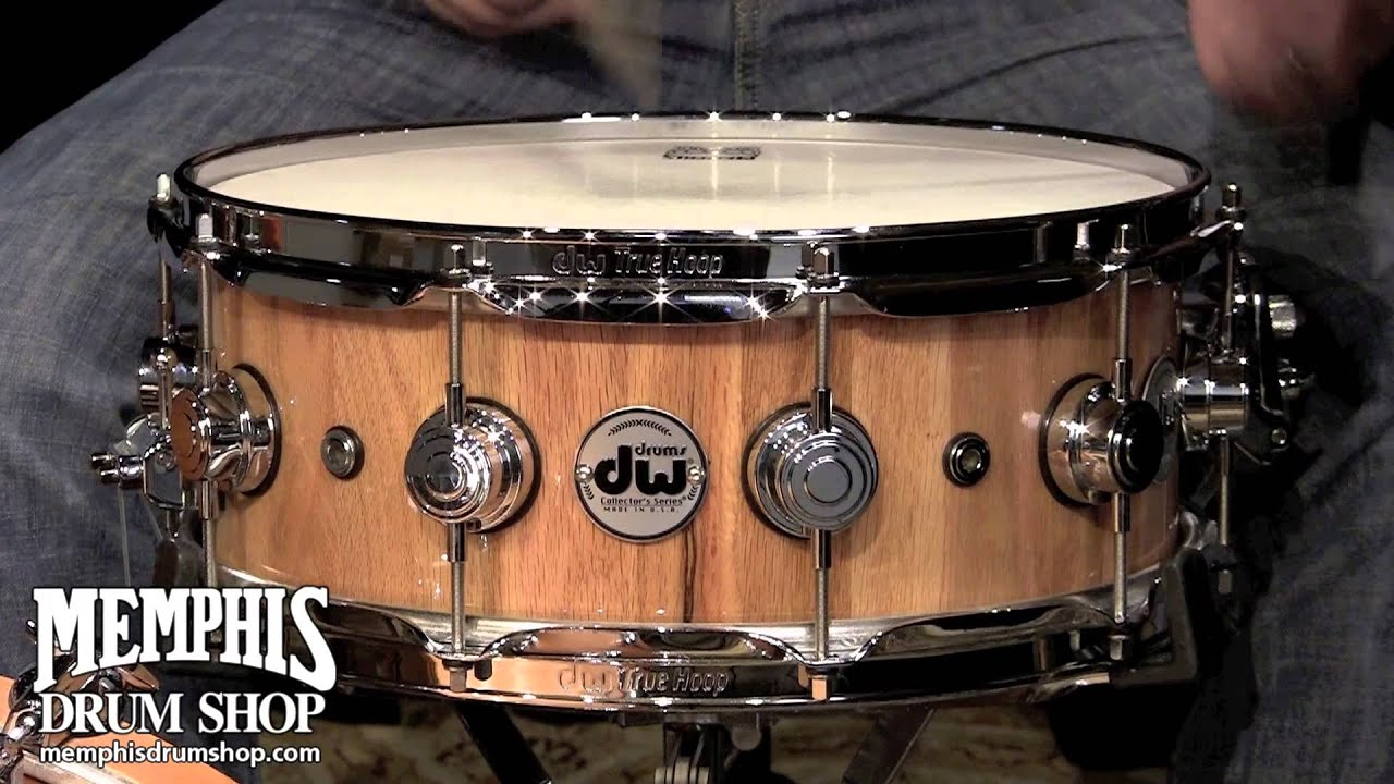 dw 14 x 5 5 collector 39 s series solid stave oak snare drum youtube. Black Bedroom Furniture Sets. Home Design Ideas
