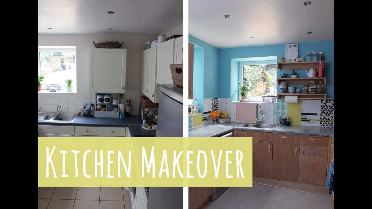 B&q Kitchen Plywood Kitchen Budget Makeover With B Q