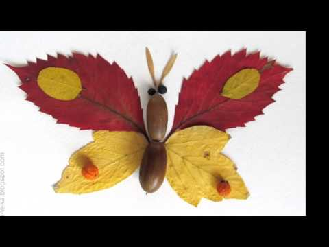 Прекрасные поделки из осенних листьев своими руками