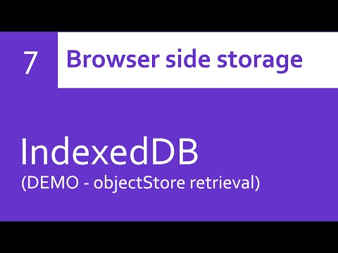 IndexedDB - objectStore retrieval (DEMO)