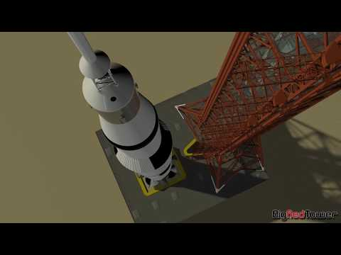 Apollo Launch Tower CGI Model by BigRedTower
