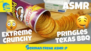 ASMR eating no talking: Pringles potato chips (extreme crunching sounds)! (ポテトチップス)