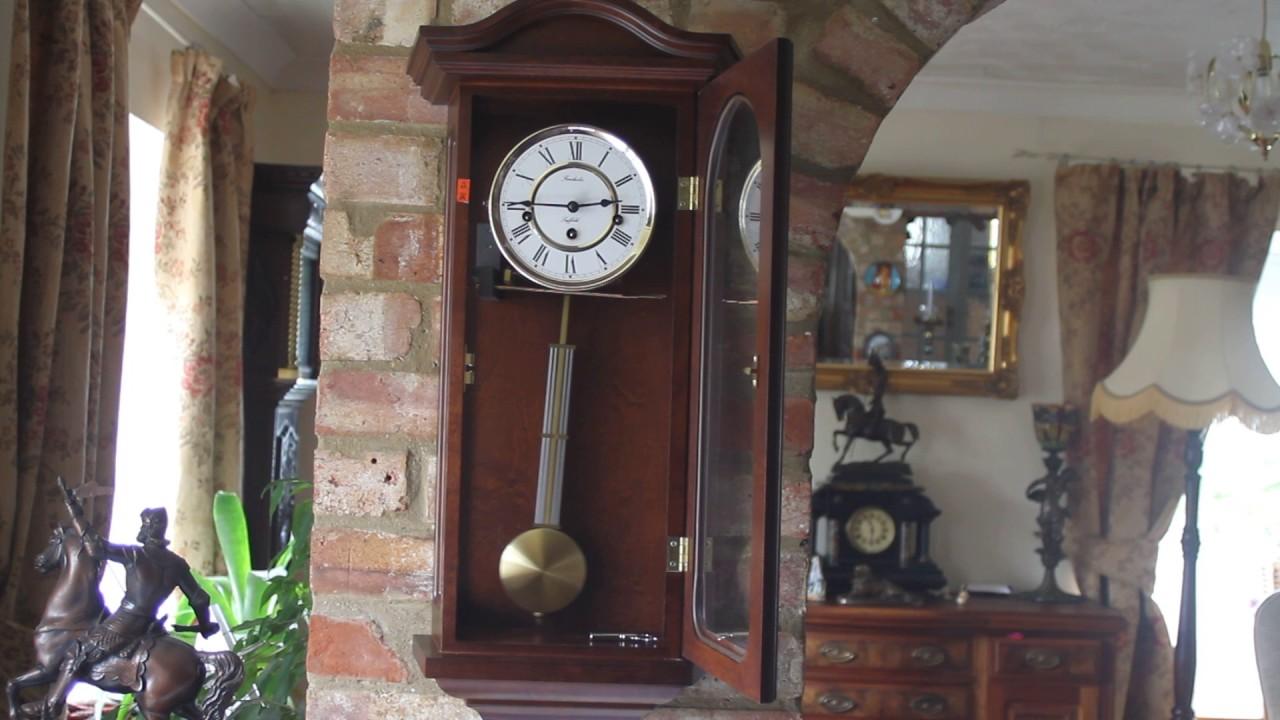 Vintage fenclocks of suffolk 8 day mahogany case wall clocks vintage fenclocks of suffolk 8 day mahogany case wall clocks with chimes amipublicfo Images