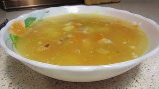 Суп гороховый пюре образный с копчеными ребрышками
