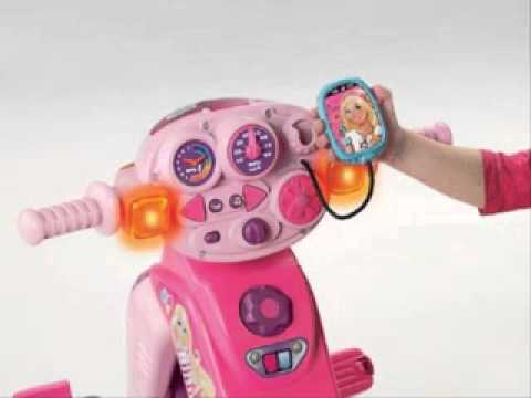 Fisher Price Barbie Trike With Lights And Sounds Youtube