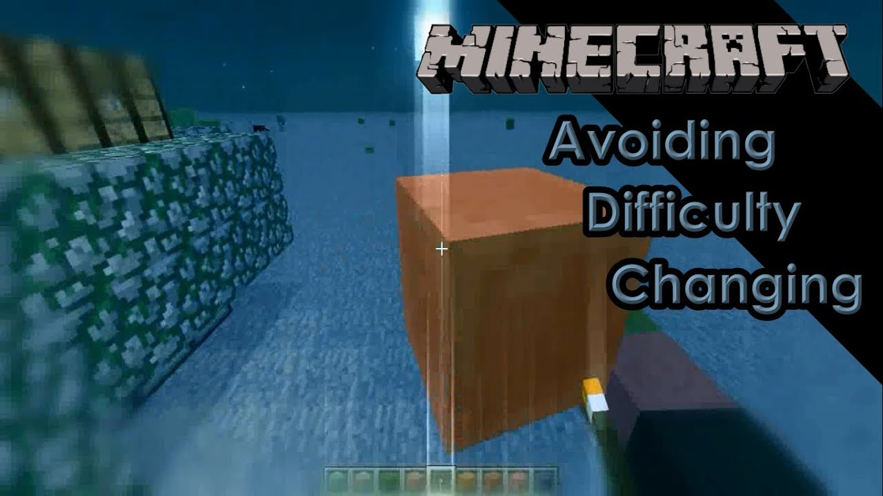 Minecraft Tutorial - Avoiding Peaceful/Hard Difficulty Changing