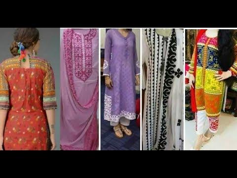 Latest top beautiful applique work dress designs ideas