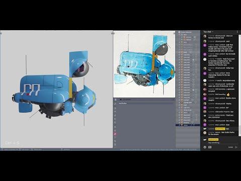Blender 2.8 Live Stream Blue Space Ship Modelling EEVEE