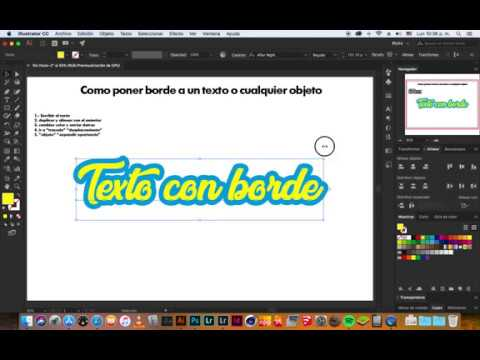 Texto Con Borde Illustrator Tutorial Youtube