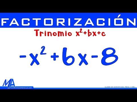 Factorización Trinomio De La Forma X2+bx+c | Ejemplo 2