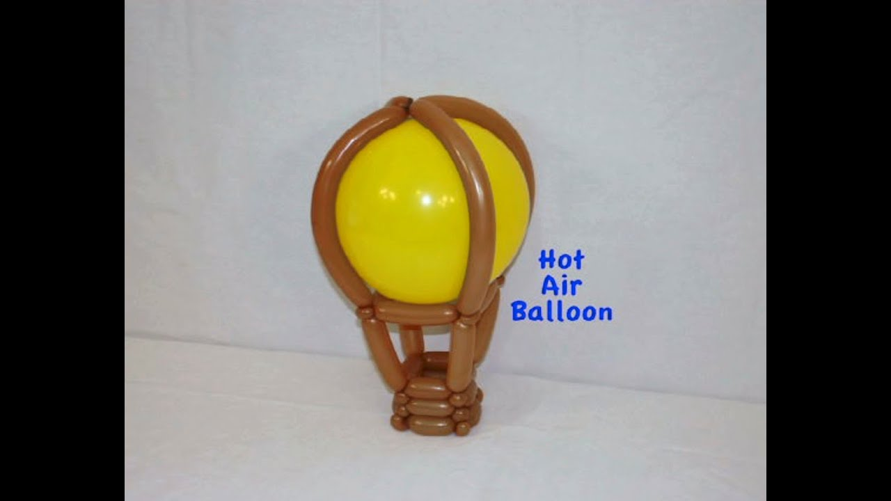 how to make a hot air balloon with balloon twisting by stretch the balloon dude youtube. Black Bedroom Furniture Sets. Home Design Ideas