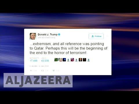 Trump's anti-Qatar tweets stir confusion over US stance on Arab diplomatic crisis