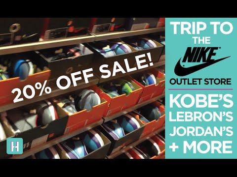 Trip to the Nike Outlet Store! Kobe X, Lebron XII, KD VII, Jordan Future + MORE!