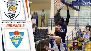 HIGHLIGHTS |  Club Melilla Baloncesto - CB Prat (SEMIFINALES - JORNADA 3) thumbnail