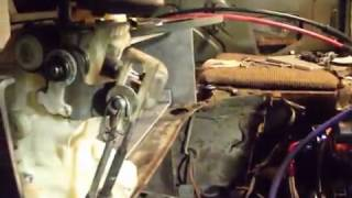 уаз 3741: тросы кпп и кулиса от портер 2. вид из кабины