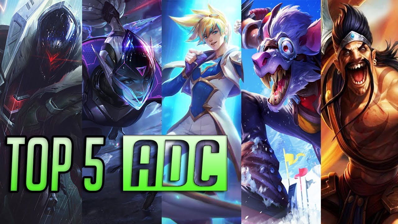 Top 5 Best ADC Champions | LoL Epic AD Carry Montage 2018 ( League of  Legends )