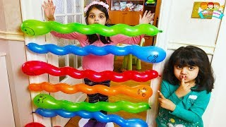 Cutie and Ashu Fun Play with Balloons | Katy Cutie Show