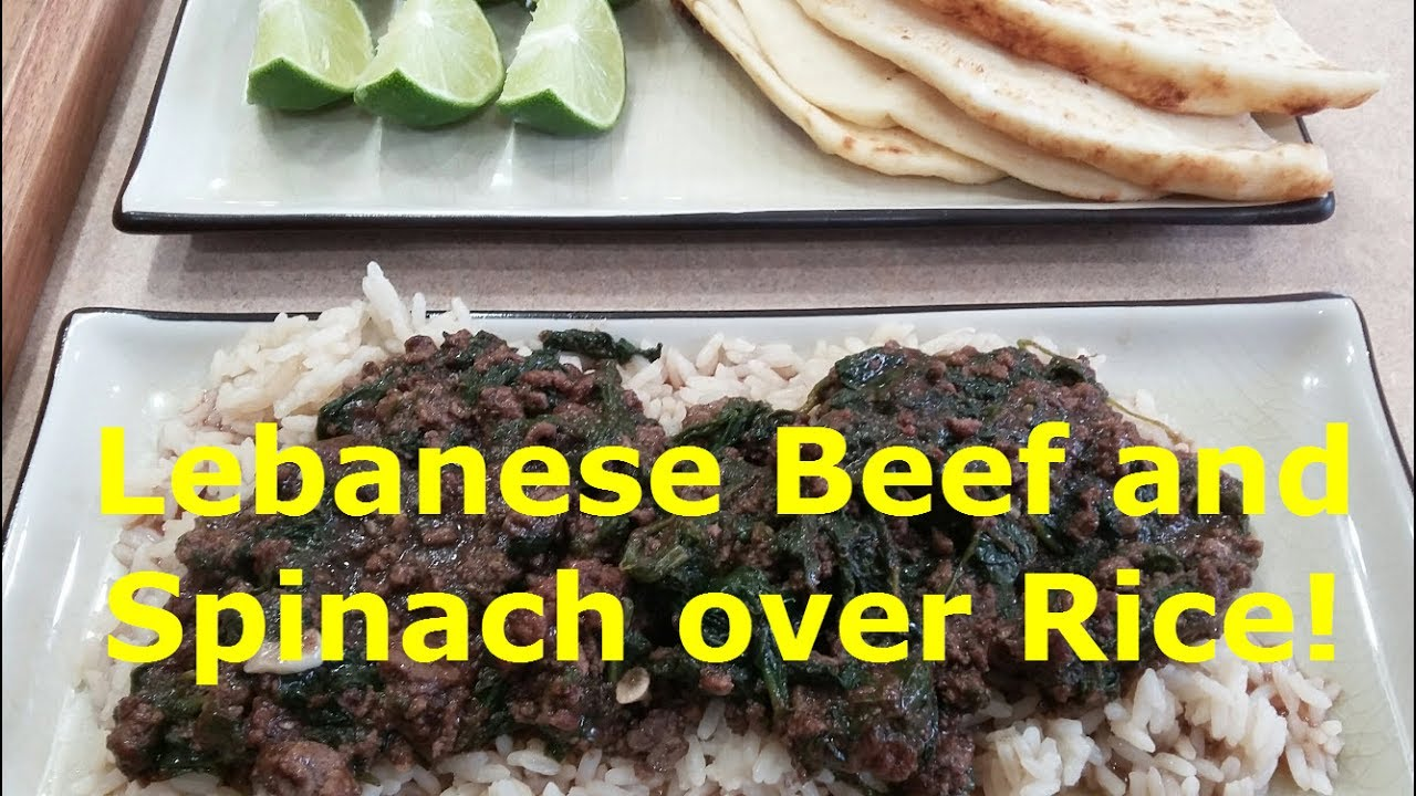 Lebanese beef and spinach over rice youtube lebanese beef and spinach over rice forumfinder Gallery