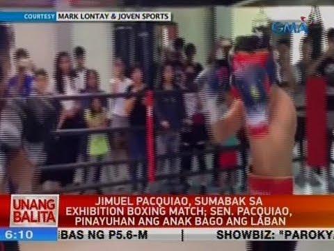 UB: Jimuel Pacquiao, sumabak sa exhibition boxing match; Sen. Pacquiao, pinayuhan ang anak