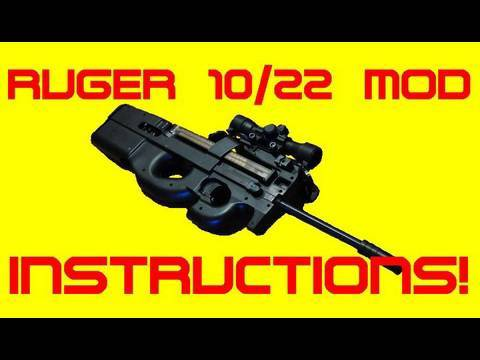 22lr P90 Using A Ruger 1022 How To Make Your Own Youtube
