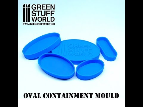 How to make Water bases with Oval containment mould and UV resin