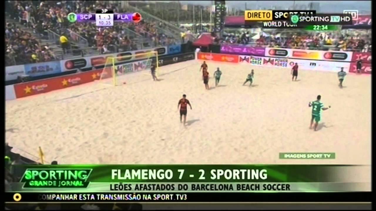 Futebol de Praia :: Sporting - 2 x Flamengo - 7 de 2015 1/2 Final da Beach Soccer Cup