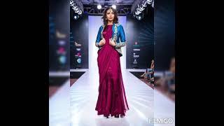 Unique. Saree Styling Idea //Indo Western Look Saree Draping#2021