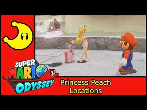 Super Mario Odyssey Princess Peach Locations